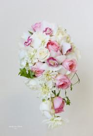 White Cascading Orchid Bouquet
