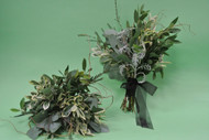 Awesome greens bouquets for an uptown look.