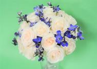 Sapphire Roses Bridal Bouquet