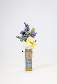 Fun flowers in shotgun shell provided by the bride.