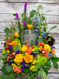 Bold Beauty Urn Wreath