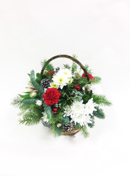 A Basket of Fresh Flowers filled with winter fun!