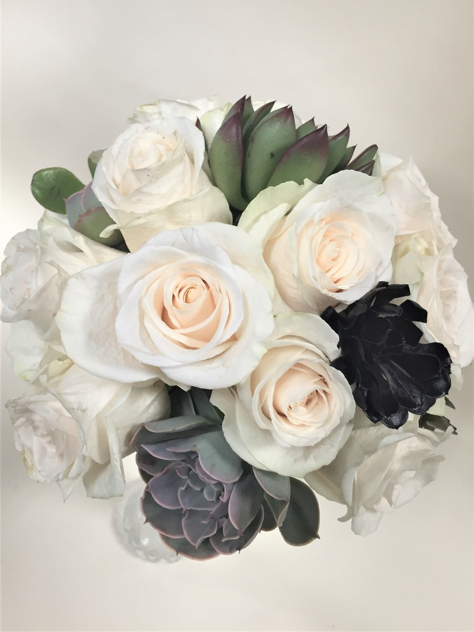 Rose And Succulent Bouquet Loveland Wedding Florist Earle S Flowers