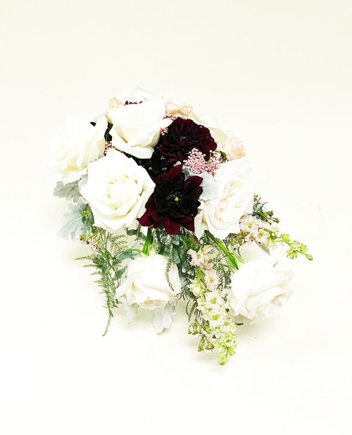 Beautiful, fresh, Spring reds bridal bouquets designed locally at Earle's Loveland
