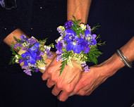 Beautiful Purple Wedding Corsages! Thank you to this awesome bride for sharing her bea