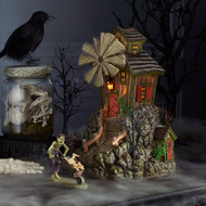Dept 56 Halloween Villages- Bone Grinder Mill