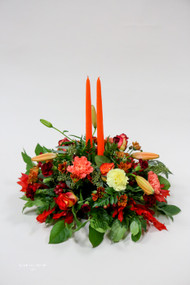 This centerpiece is a great addition to your dining table full with beautiful fall colors.