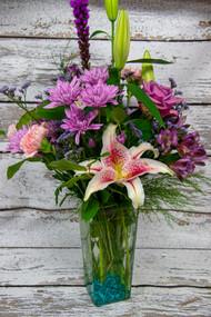 A Touch of Teal Vase Arrangement