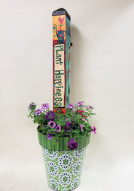 Looking for something different to send? Want something that will last longer than fresh flowers? We have just the thing for you! Locally grown vibrant bedding plants accent this vinyl pot and art pole by Studio M. These art poles and pots are not only beautiful and creative but made with state of the art materials designed for outdoor wear and tear. Fade and scratch resistant they will survive Colorado's intense sun and harsh winters while remaining vibrant and sturdy.   Biggest advantage of having locally grown plants (besides supporting another local business of course) is that they are already acclimated to Colorado and ready to keep growing and growing until the first frost in the Fall. Order yours today!