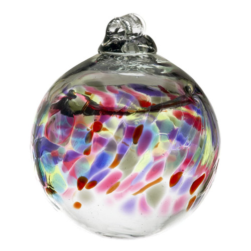 Those born in the month of December are influential, strong-willed, and passionate. Reliable and generous, a person born in this month will create lasting and meaningful relationships. The colors in this birthday wish ball hold the powers of prosperity, courage and dedication.