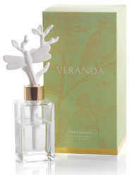Increase the scent of your surroundings with these unique porcelain diffusers made with class and elegance by Veranda. With this amazing scent, French Gardenia, your office or home is sure smell of fresh scents and beauty. The porcelain accents fit into each different jar and softly pull the oil scents out into the air.