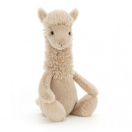 Dreamy, dapper and delightful - that's Bashful Llama! This nuzzly-neutral long-necked lovely has a very fine ruff in biscuity fluff. With a punky-soft hairdo, snuffly snoot, squidgy hooves and waggly ears, Bashful Llama is such a soothing sweetheart.