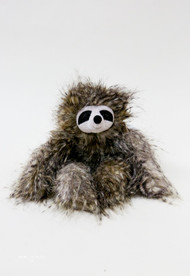 Bonbon Sloth has the longest scruffled arms and legs - perfect for lazy cuddles! Toffee-sweet, this rumpled sloth has a warm, gentle smile and contrast eye patches. Heavenly to hug and hold, this flopsy friend is a naptime neighbour. Let's hang out sometime!