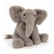 If you're looking for plenty of chunky, trunky hugs, meet Emile Elephant. Classically cute in pebble-grey fur, this elly is irresistibly soft. His long, flopsy limbs and beany bottom help him flump and flop on any comfy bed. With a super squeezy nose and big, bonny ears, he's so, so proud on parade!