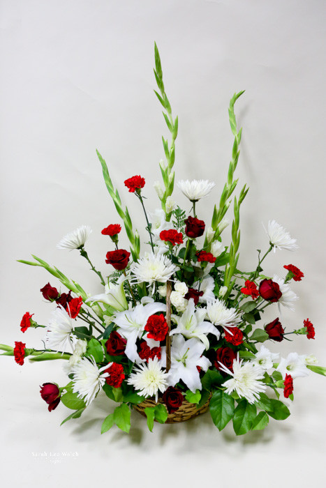Love And Peace Sympathy Tribute Traditional Red And White Sympathy
