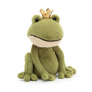 Looking for a royally kooky companion? Introducing Felipe Frog Prince! Gorgeous in green, with a creamy chin, this bright-eyed bopper has neat knobbly toes! And don't forget that shimmering golden crown!