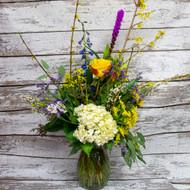Hydrangea Mixed Sympathy Vase