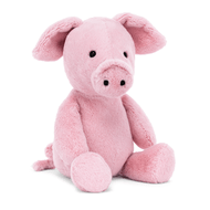 Snuffly sweetheart Nimbus Pig has a very fine snout and curly-wurly tail! Pink as a petal in baby-soft fur, this little pig is adorably tubby. Tickle those lovely leafy ears and cuddle this cutie till the cows come home.