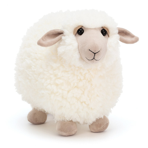 Rolbie Sheep is gorgeously round, with a fluffy cream fleece and gentle beigey face. Friendly and fluffy, this sheep may be tubby but can leap over any stile or gate! Kindly shepherds very welcome!