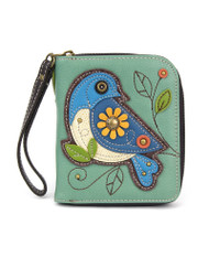 Blue Bird Zip Around Wallet