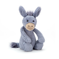 Hee-haw! That's Bashful Donkey chuckling. He's a practical joker who loves to play pranks! He's a softy though, in squashy Bashful fur, with a funky blue mane and big ears which he waggles all day.