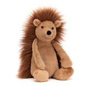 The softest quills you'll ever stroke and a tummy like chocolate ice cream - that's beautiful Bashful Spike Hedgehog! This quirky little scrambler's a keen rambler. He never takes a backpack, but sticks things to his spiky back!