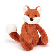 Cheeky little Bashful Fox is a jiffly ginger cub with fluffy white ears, feet and tail-tip. He loves to play giggly games, but this wily fox is far from tricking you; fun times and treats are for everyone he meets!