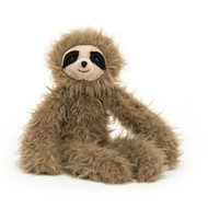 Bonbon Sloth has the longest scruffled arms and legs - perfect for lazy cuddles! Toffee-sweet, this rumpled sloth has a warm, gentle smile and contrast eye patches. Heavenly to hug and hold, this flopsy friend is a naptime neighbour.