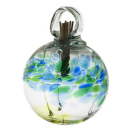 Set the mood with an inspired, affordable gift that can be used anywhere in the home. Fill the air with fragrance using these stylish, low maintenance, hand blown glass diffusers. An effortless way to scent any room. Comes with natural diffuser reeds and one ounce of starter oil.  This is a hanging product.  Scent: Clean Linen