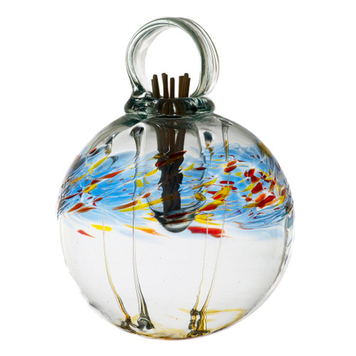 Set the mood with an inspired, affordable gift that can be used anywhere in the home. Fill the air with fragrance using these stylish, low maintenance, hand blown glass diffusers. An effortless way to scent any room. Comes with natural diffuser reeds and one ounce of starter oil.  This is a hanging product.  Scent: Cucumber Melon