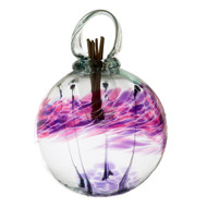 Set the mood with an inspired, affordable gift that can be used anywhere in the home. Fill the air with fragrance using these stylish, low maintenance, hand blown glass diffusers. An effortless way to scent any room. Comes with natural diffuser reeds and one ounce of starter oil.  This is a hanging product.  Scent: Lavender