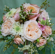 Soft Pink and White Bloom Bridal Bouquet