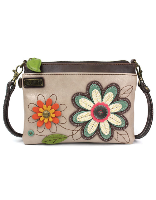 Detailed stitching  Rear slide pocket 3 credit card slots inside 2 Adjustable straps that are detachable Top zippered pocket Patterned fabric lining with inner slide and zipper pockets