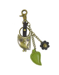Hold your keys with style Comes in individual packaging  Antique bronze toned Owl keychain Comes with bonus flower and leaf charms as shown Easy to attach onto a bag, luggage, or keys