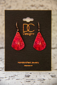Dropped Earrings -Red-