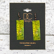 Rectangle Earrings -Green-