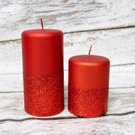 Celebrate with these beautiful and vibrant candles perfect for any room or centerpiece!