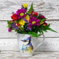 Blue Jay Watercolor Mug Arrangement