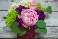 Strike Me Pink Vase Arrangement