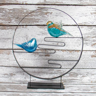 Zen Birds Glass Decor