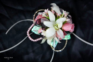 White Orchid, Baby Pink Roses Corsage