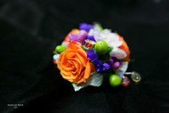 Bright Mixed & Accented Bling Corsage