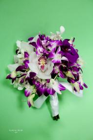 Mixed Purple Orchid Bridal Bouquet
