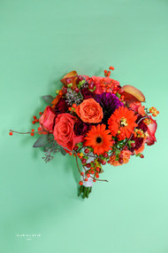 Fall Orange Bridal Bouquet