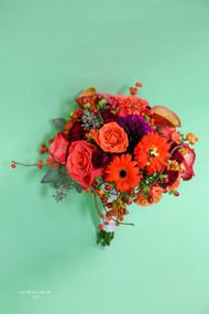 Fall Orange Bridal Bouquet