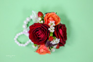 Fall Colors Wedding Wrist Corsage