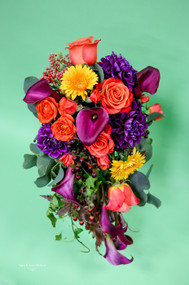 Fall Cascading Bridal Bouquet