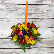 Orange Candle Centerpiece