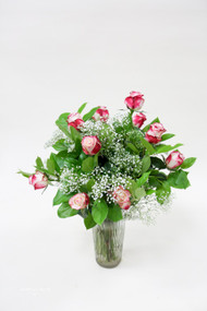 Traditional Dozen Candy Cane Colored Roses