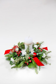Fresh Flower Holiday Arrangement- Shop locally at Earle's Loveland Flowers and Gifts.
